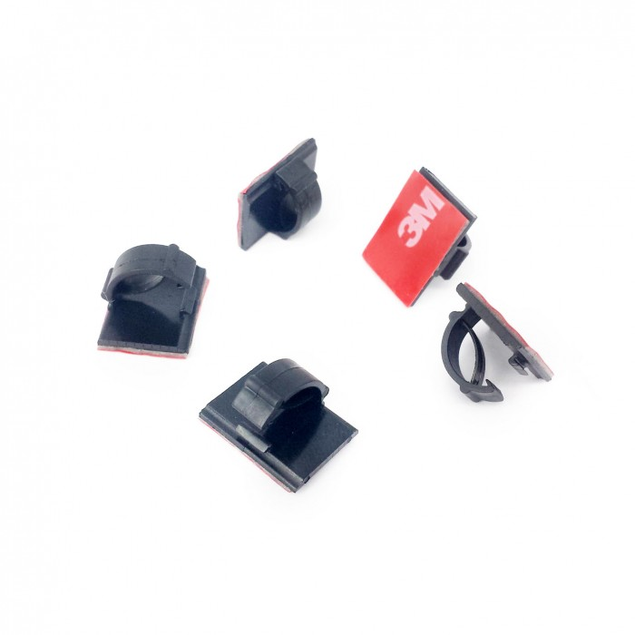 Cable Clips with 3M Black Adhesive pads ( 5pcs )