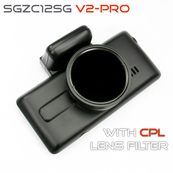 V2-Pro Street Guardian SGZC12SG (GPS+CPL+Extras) with option of Rear / Reversing Camera Recording